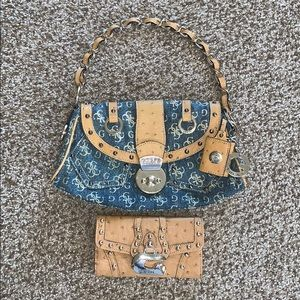 Cute GUESS Purse with Matching Wallet